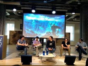 Panel de expertos en Espacio Fundación Telefónica. De izda. a dcha. Álvaro P. Ruiz de Elvira, Manel Loureiro, José de la Peña, Berni Melero y Tomás Blanco.