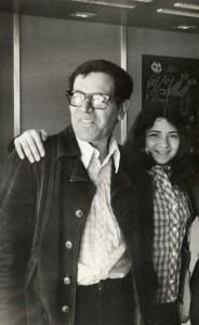 Con mi padre, en el aeropuerto de Ezeiza.