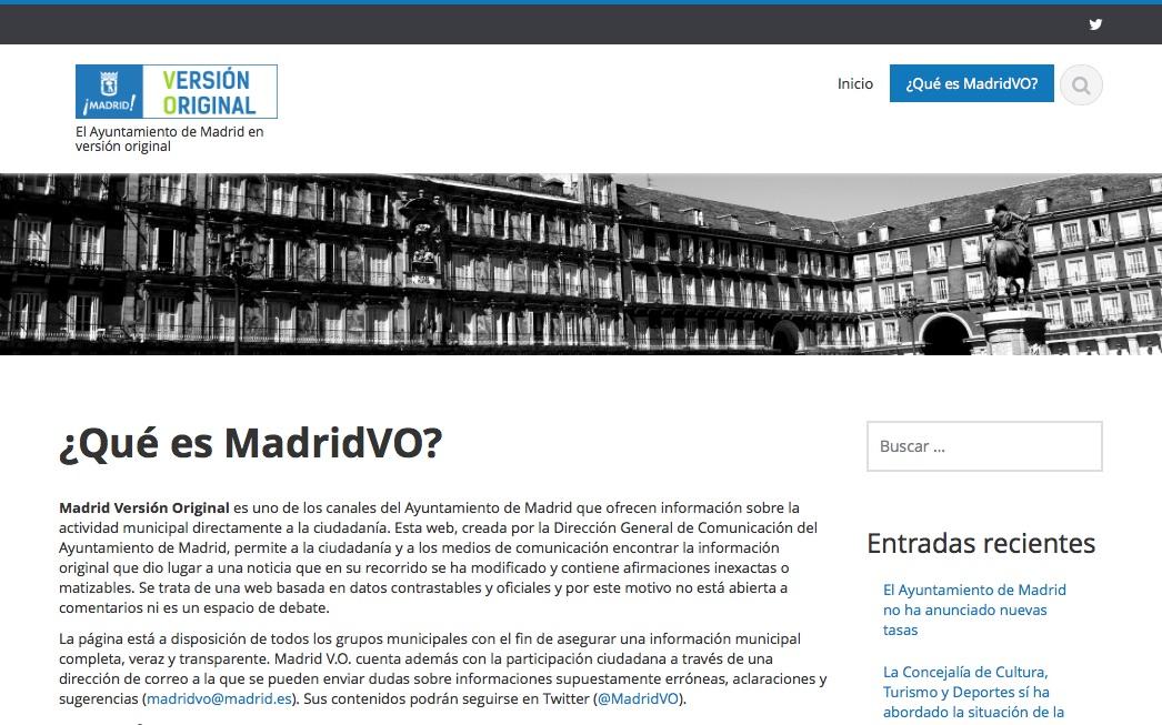 MadridVO: miedo al cambio en comunicación